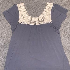 Grey lace tank top